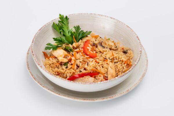 Рис з куркою та грибами   Піццерія мрія