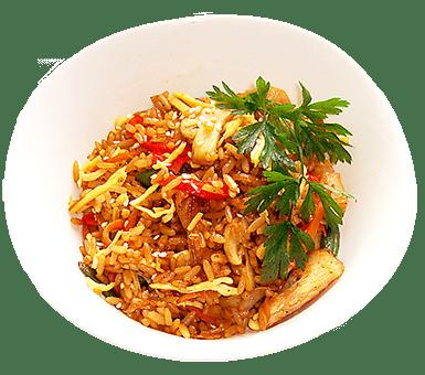 Рис з куркою та грибами | Піццерія мрія
